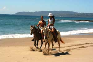 horse ride costa rica beach front